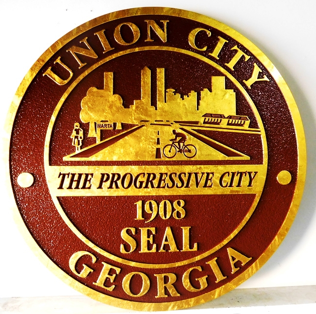 ME5080 - Seal of the Union City,Georgia, 2.5-D
