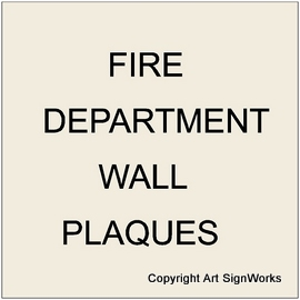 X33500 - Carved Wooden Wall Plaques for Fire Departments