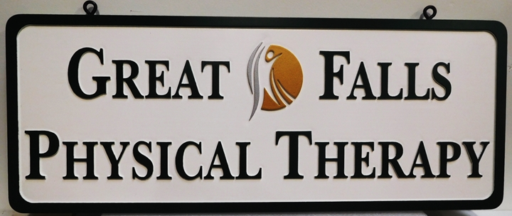 """B11253 - Carved  Sign for """"Great Falls Physical Therapy"""""""
