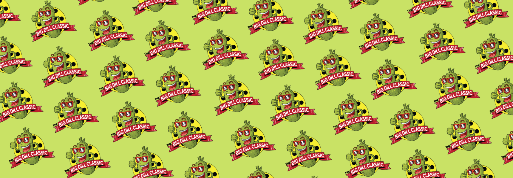 Graphic background with repeating Big Dill Classic logo