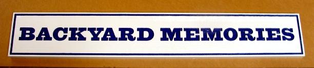 I18818 - Sandblasted HDU Residence Name Sign