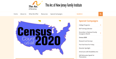 The Arc of NJ Family Institute Census Resource Page