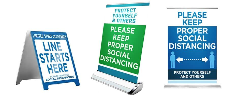 Social Distancing Poster, Signs, & Banners