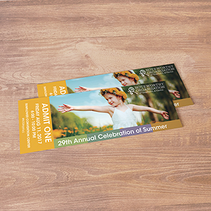 Request an estimate for printing event tickets.