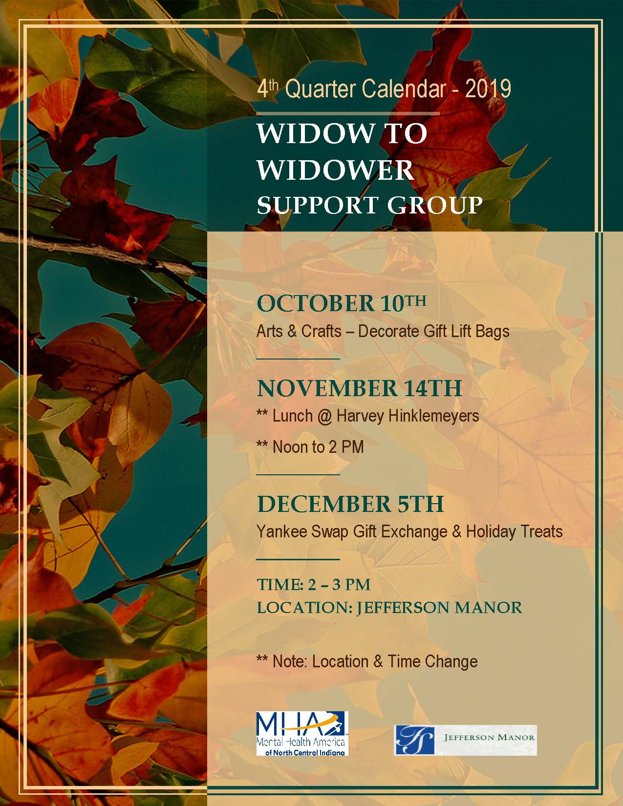 Widow to Widower Support Group