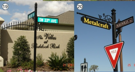 H17002 - Street Signs, Scroll Brackets, and Posts