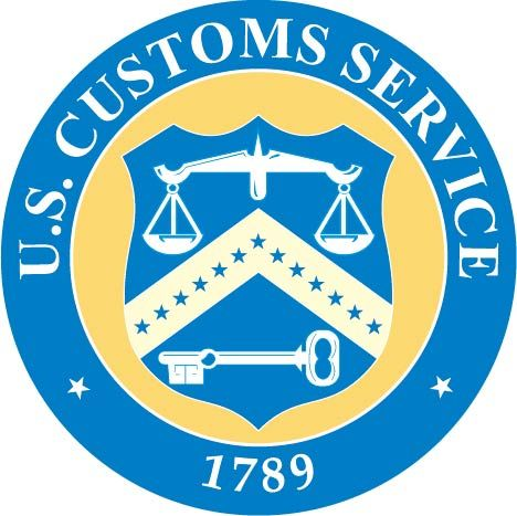 U30376 - US Custom Service Seal 2.5-D Carved Wood Wall Plaque