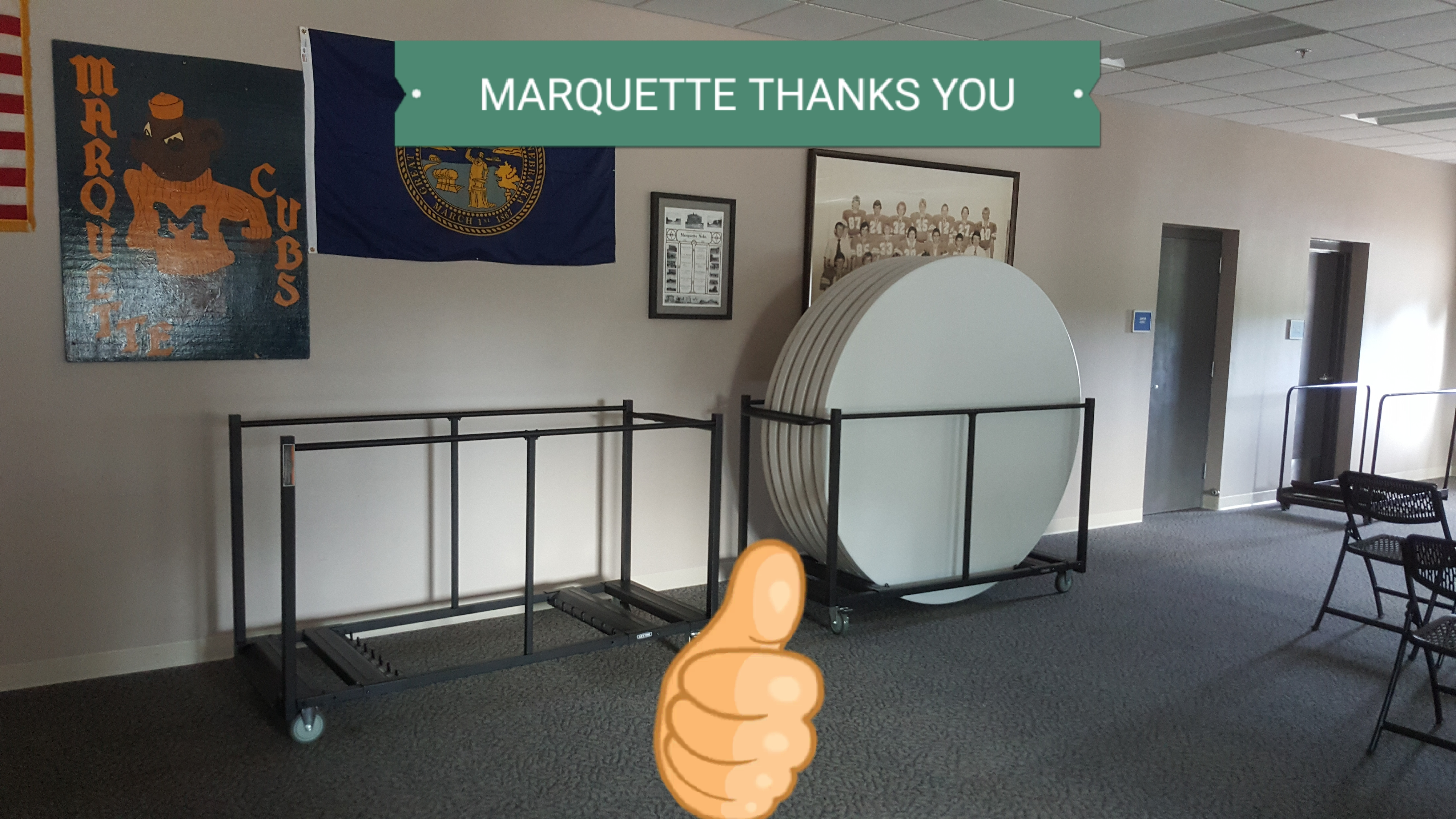 "Village of Marquette says ""thanks"""