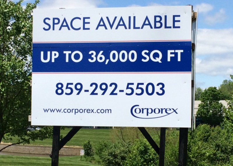 Corporex Yard Sign
