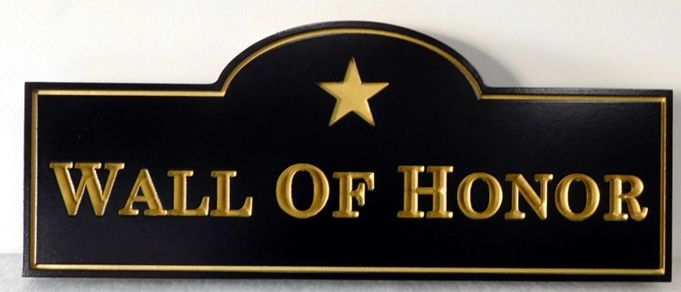 "IP-1972 - Plaque for POW-MIA's ""Wall of Honor"", Artist Painted"