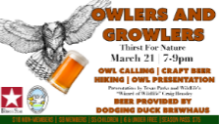 a Thirst for Nature event: Owlers & Growlers