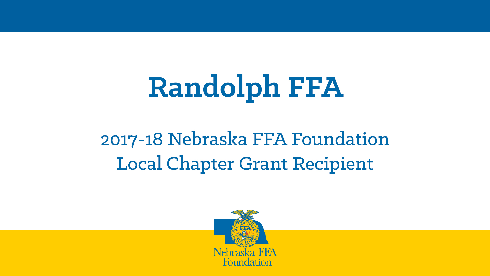 2017 Local Chapter Grant Recipient: Randolph