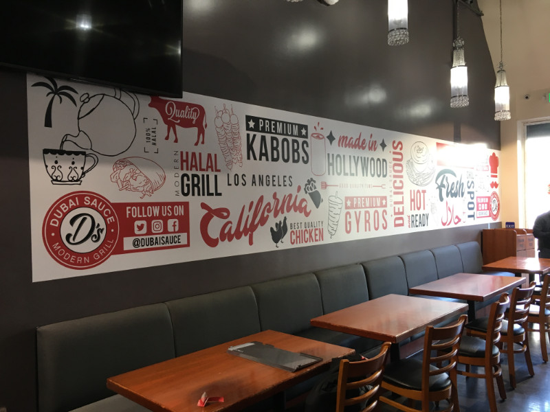 Restaurant Wall Murals | Hollywood Boulevard | Los Angeles