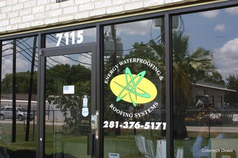 Logo on Storefront Window