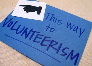 This way to volunteerism
