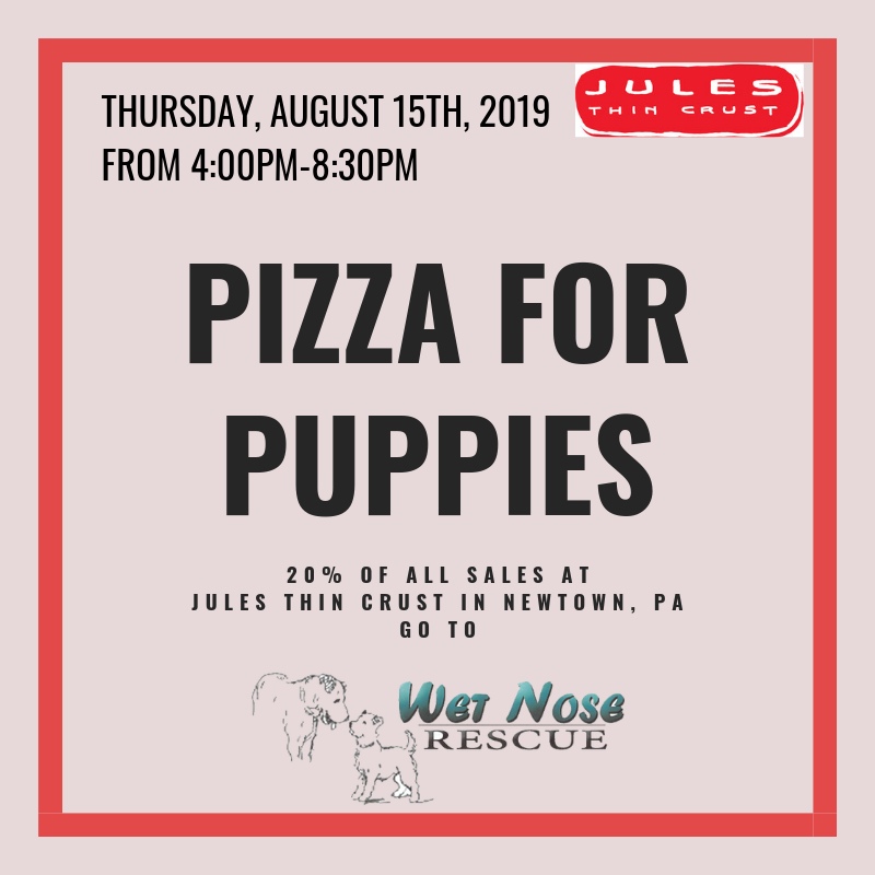Pizza and Puppies @ Jules Thin Crust