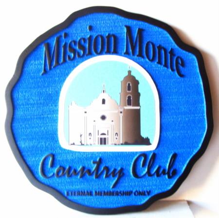 D13135 -Wooden Sign for  Mission Monte