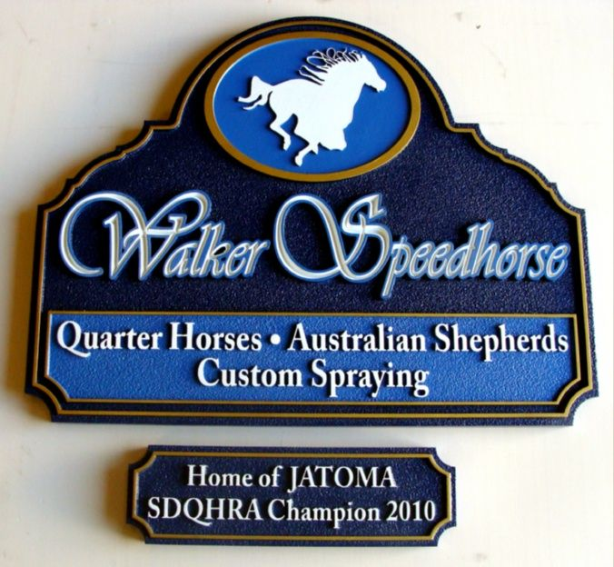 P25039 - Horse Stable Identification Sign for Horse Show