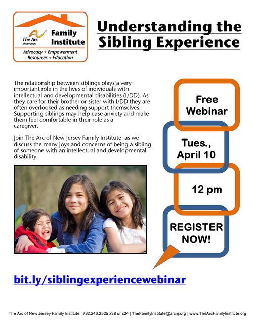 Free Webinar: Understanding the Sibling Experience