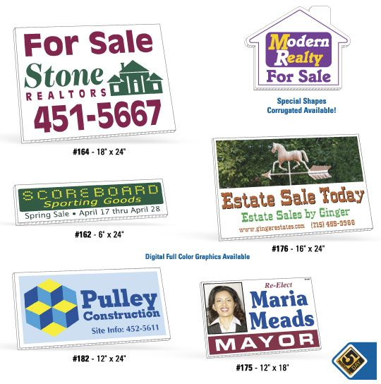 Yard and Real Estate Signs