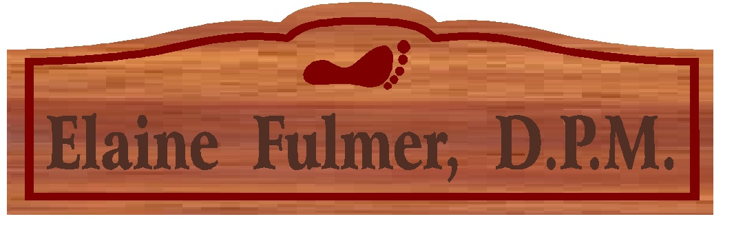B11053 - Engraved Wood Plaque for a Podiatrist (D.P.M.), with Engraved Footprint