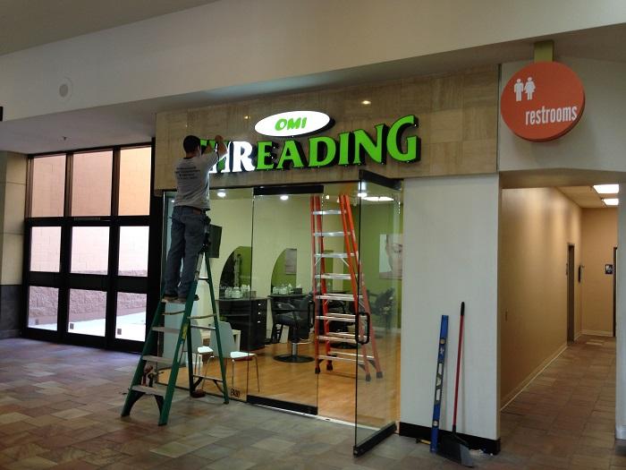 Mall Sign Installation