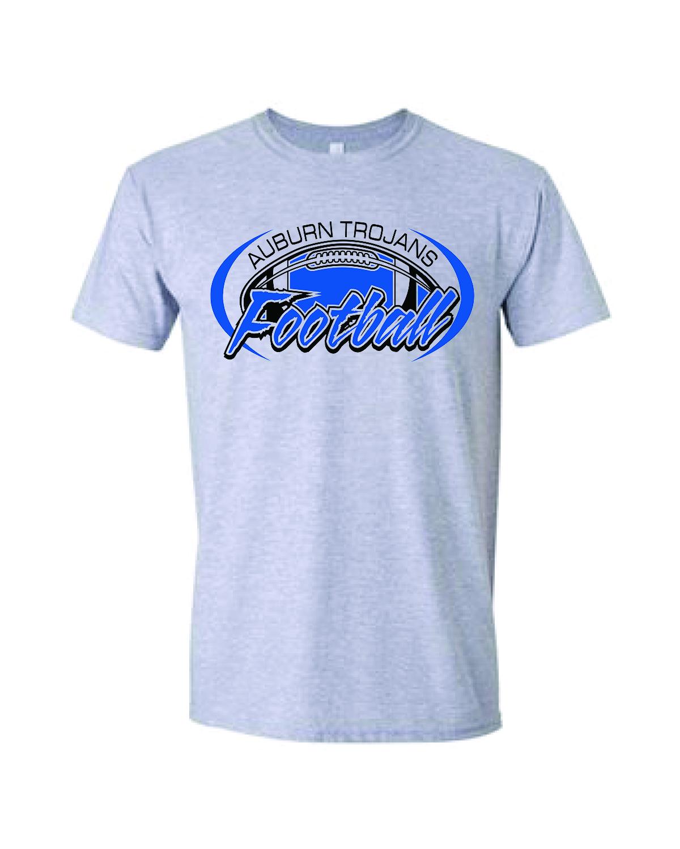 Auburn Football Short Sleeve (Sport gray)