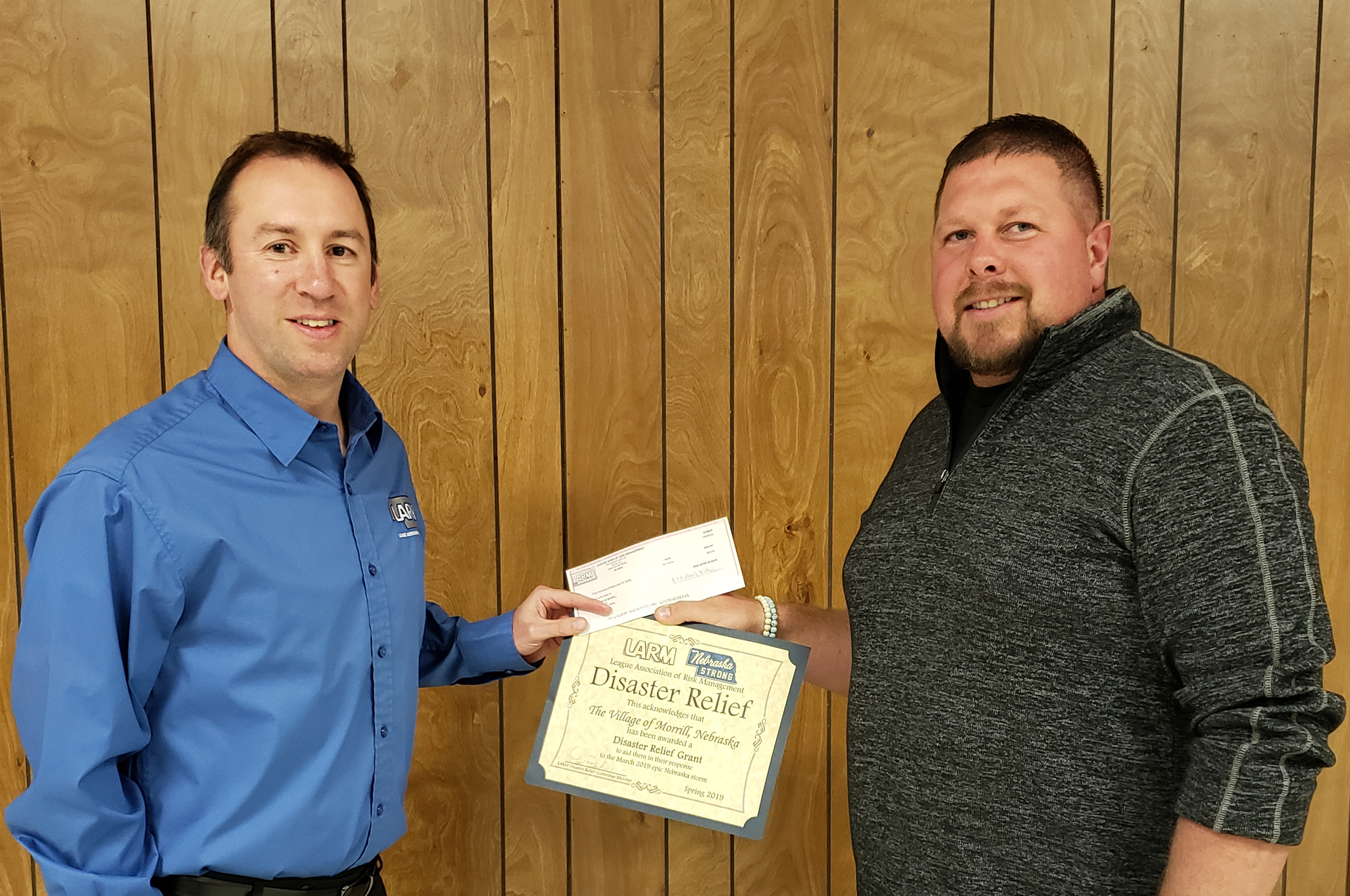 Morrill receives $500 Disaster Assistance