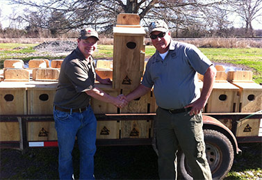 Louisiana Chapter Donates Wood Duck Boxes