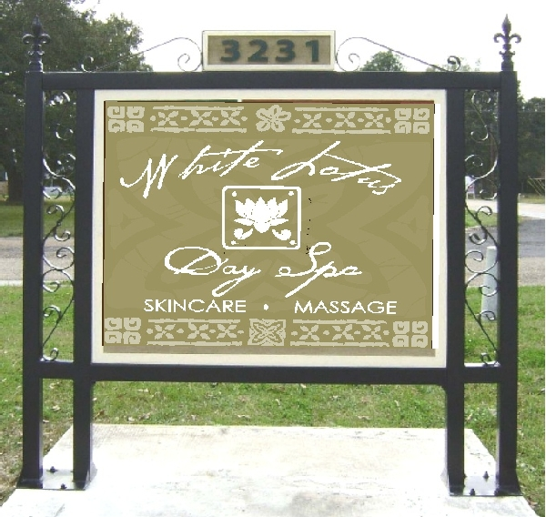 M4450 - Custom  Double Square Post Sign Stand