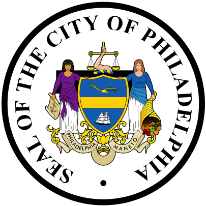 DP-1840 - Carved Plaque of the Seal of the City of Philadelphia, Pennsylvania,  Artist Painted