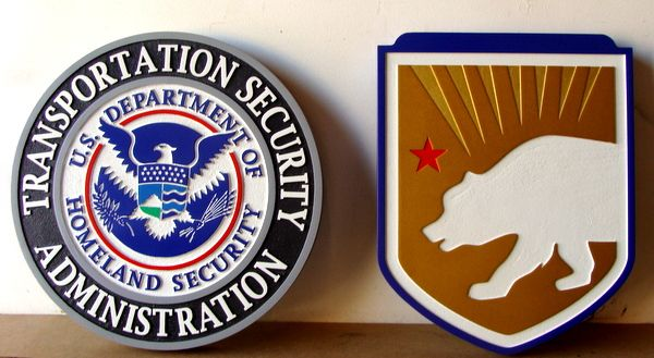 U30340- Carved 2.5D HDU Wall Plaques for the Transportation Security Administration