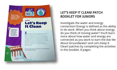 "Junior ""Let's Keep It Clean"" Patch Booklet"