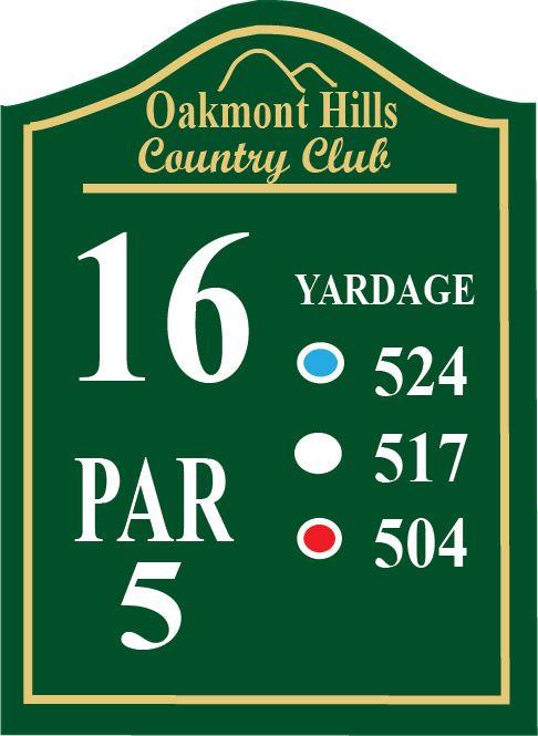 E14381 -Wooden  Golf Tee Sign