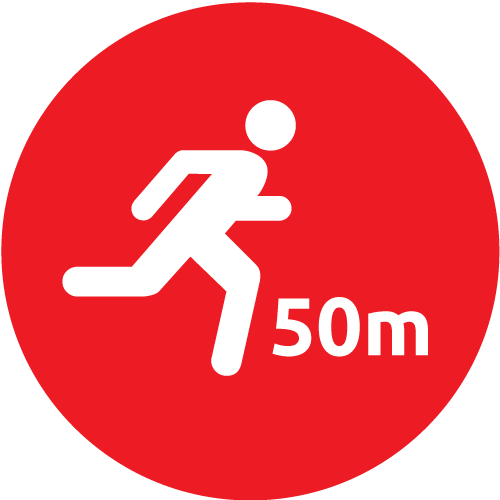 50 Meter Walk or Run