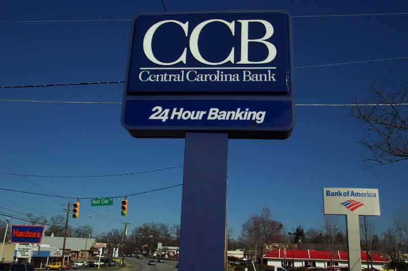 CCB Freestanding lit sign