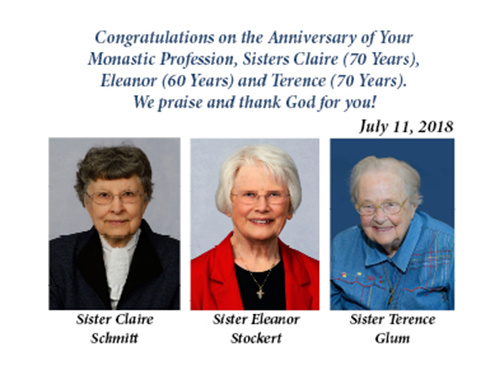 Sisters Celebrate 60 & 70th Anniversary of Monastic Profession
