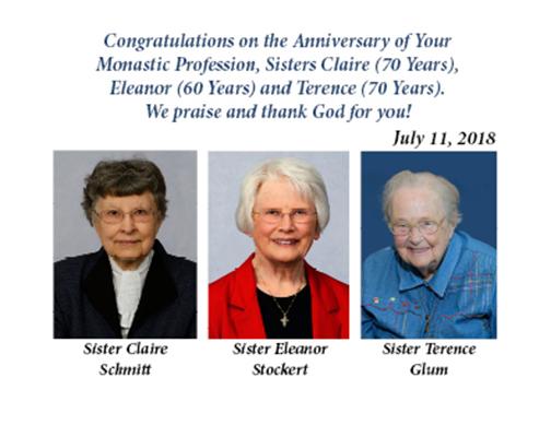 Sisters Celebrate 60 & 70th Anniversary of Monastic Profession