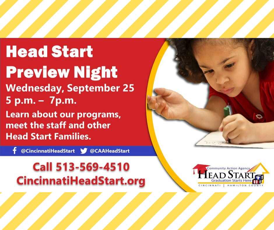Head Start Preview Night - Wednesday, September 25, 2019