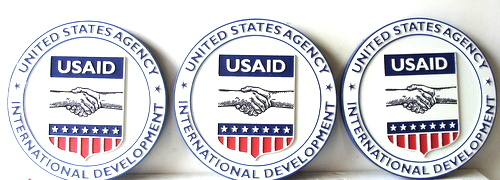 U30486 - Carved HDU Wall Plaques for the US AID Organization