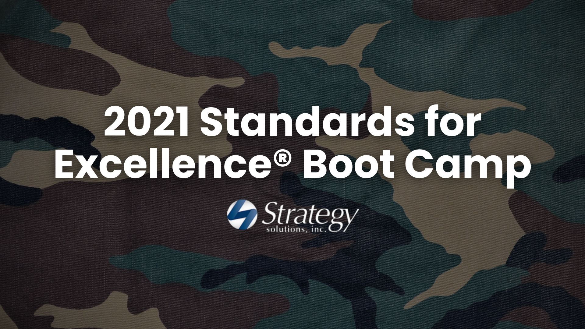 [Zoom Series] 2021 Standards for Excellence® Boot Camp - PART 3