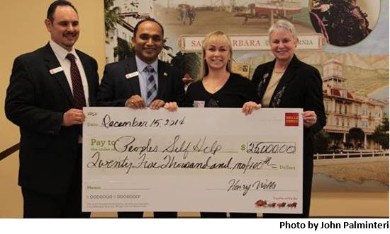 Peoples' Self-Help Housing presented with $25,000 from Wells Fargo