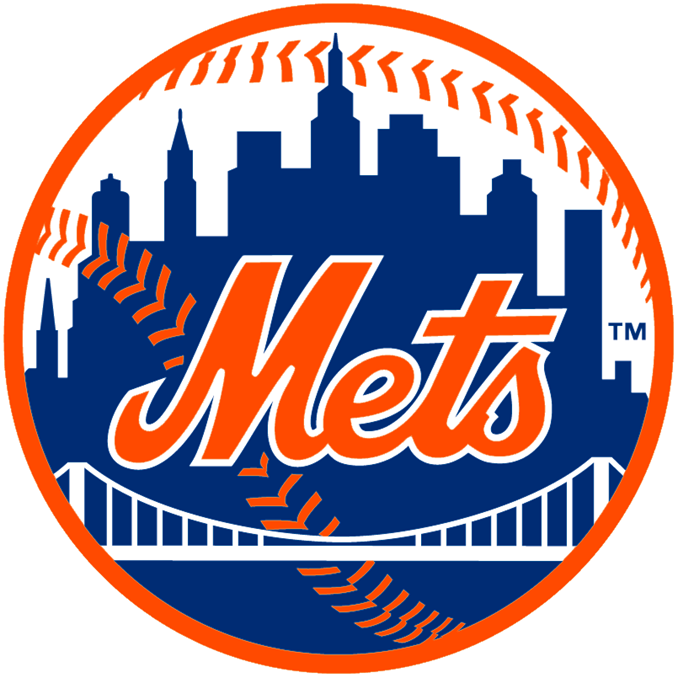 WP-1160 - Carved Wall Plaque of Logo  for NY Mets, MLB,  Artist Painted