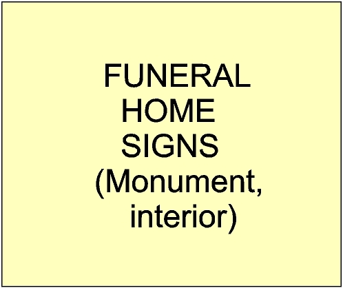 GC16900 - Funeral Home Entrance Signs