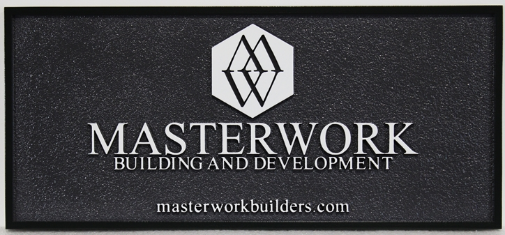 "S28148 - Carved Sign for the ""Masterwork Building and Development"" Company"