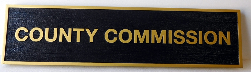 F15500 - Carved County Commission Sign , 2.5-D
