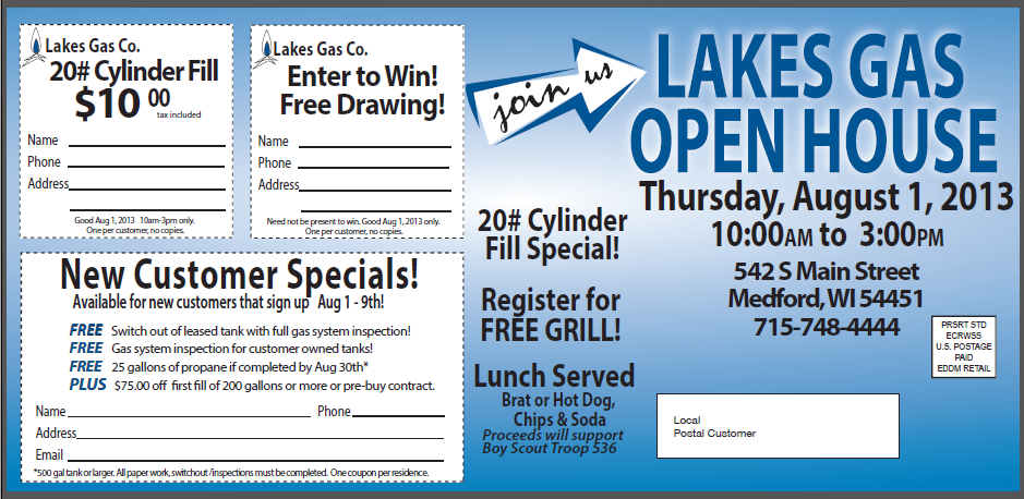 Lakes Gas Open House