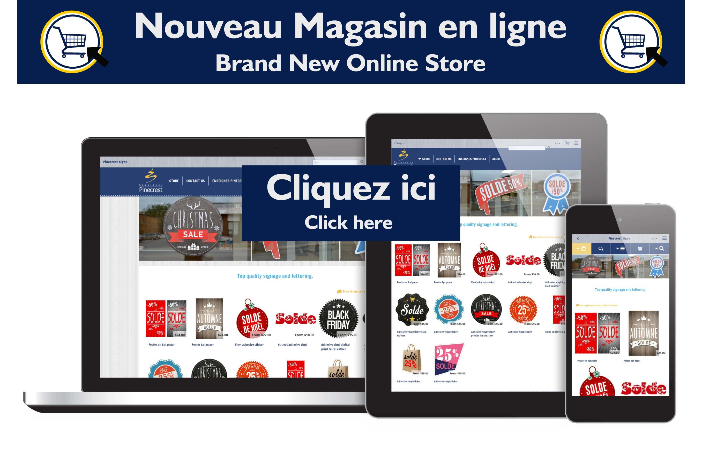 Pinecrest online store