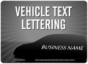 Vehicle Text Lettering