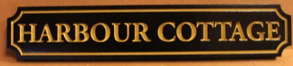 """L21886 - Quarterboard Sign for Coastal Residence """"Harbor Cottage"""""""